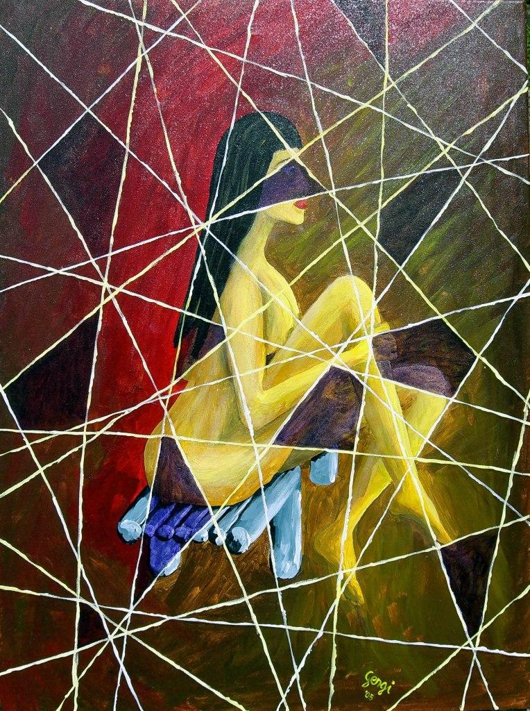 Paintings - Specchio rotto sfortuna ...